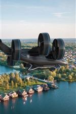 Preview iPhone wallpaper Bell Nexus flying car