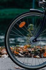 Preview iPhone wallpaper Bike, wheel, ground