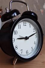 Preview iPhone wallpaper Black alarm clock