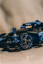 Preview iPhone wallpaper Blue F1 race car, toy