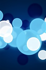 Preview iPhone wallpaper Blue and white bubbles, abstract