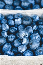 Preview iPhone wallpaper Blueberries, fresh fruit, berries