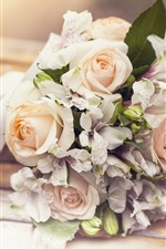 Preview iPhone wallpaper Bouquet, rose, lily, flowers