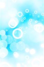 Bright circles, blue background