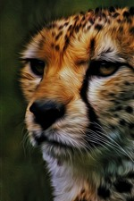 Preview iPhone wallpaper Cheetah, face, art picture