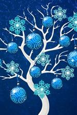 미리보기 iPhone 배경 화면 크리스마스 트리, 공, 장식, 아트 그림