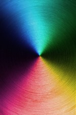 Círculo, cores do arco-íris