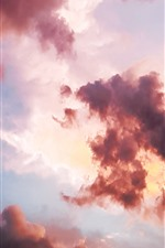 Preview iPhone wallpaper Clouds, sunset, sky