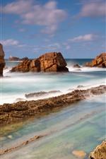 Preview iPhone wallpaper Coast, rocks, sea
