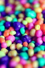 Pastillas de caramelo colorido, dulce