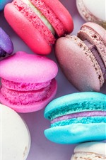 Preview iPhone wallpaper Colorful macaron, cakes, sweet food