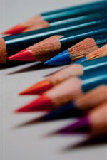 Preview iPhone wallpaper Colorful pencils, shadow