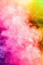 Preview iPhone wallpaper Colorful smoke, rainbow colors