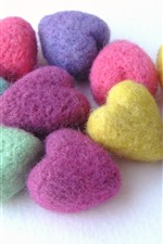 Preview iPhone wallpaper Colorful wool love hearts