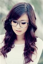 Preview iPhone wallpaper Curls girl, glasses