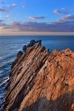 Dalian, rocas, mar, china