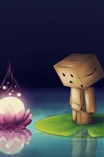 Danboard, pink lotus flower