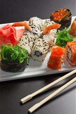 Preview iPhone wallpaper Delicious Japanese cuisine, sushi, meal