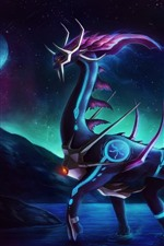 Preview iPhone wallpaper Fantasy animal, dragon, space, planet
