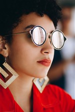 Preview iPhone wallpaper Fashion girl, glasses, look
