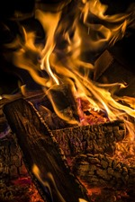 Preview iPhone wallpaper Firewood, fire, flame
