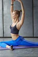 Preview iPhone wallpaper Fitness girl, yoga, sport