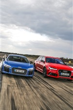 Preview iPhone wallpaper Four colors Audi cars
