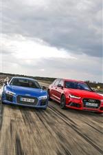 Four colors Audi cars
