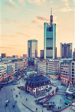 Frankfurt, Germany, city, roads, people, skyscrapers