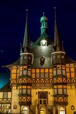 미리보기 iPhone 배경 화면 독일, 도시, 밤, 성, 조명