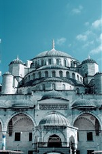 Preview iPhone wallpaper Grand Mosque, Istanbul, Turkey