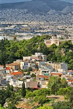Preview iPhone wallpaper Greece, city, houses, trees