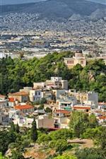 미리보기 iPhone 배경 화면 그리스, 도시, 주택, 나무