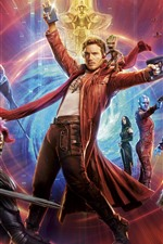 Preview iPhone wallpaper Guardians of the Galaxy 2, heroes, space, battle