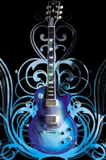 Guitar, abstract background