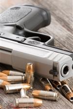 Preview iPhone wallpaper Gun, weapon, bullets