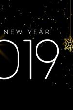 미리보기 iPhone 배경 화면 새해 복 많이 받으세요 2019 년, 눈송이, 심플한 스타일