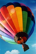 Preview iPhone wallpaper Hot air balloon, colorful, blue sky