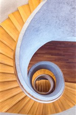 Preview iPhone wallpaper Interior, stairs, spiral