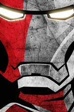 Preview iPhone wallpaper Iron Man, face, art picture
