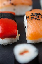 Preview iPhone wallpaper Japanese cuisine, sushi, rice, food
