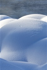 Preview iPhone wallpaper Kanas, snow, stones, winter, China