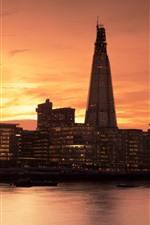 미리보기 iPhone 배경 화면 런던, 템스, 건물, 일몰, 영국