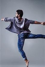 Preview iPhone wallpaper Man in dancing