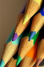Preview iPhone wallpaper Many colorful pencils, crayons