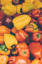 Preview iPhone wallpaper Many peppers, vegetable