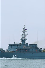 Preview iPhone wallpaper Military ship, sea