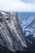 Preview iPhone wallpaper Mountains, snow, rocks, valley