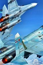 Preview iPhone wallpaper Multipurpose fighter, flight in sky