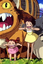 Preview iPhone wallpaper My Neighbor Totoro, Japanese anime